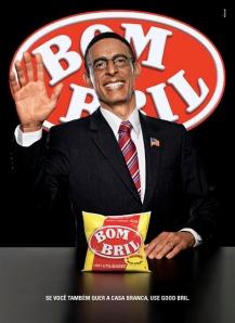 Anúncio da Bom Bril homenagenado a vitória de Obama