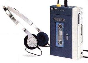 Um dos primeiros modelos de Walkman