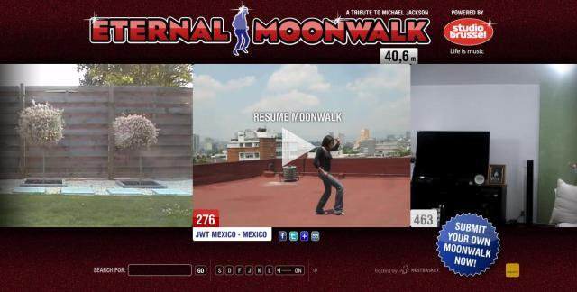 Reprodução do site Eternal Moonwalk