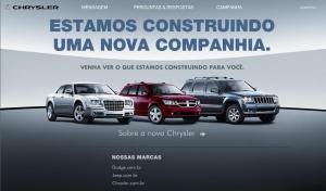Site da Chryler que explica parceria com a Fiat
