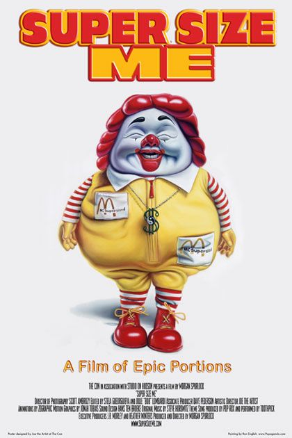 Poster do documentário Super Size Me