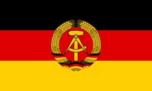 Bandeira da antiga Alemanha Oriental