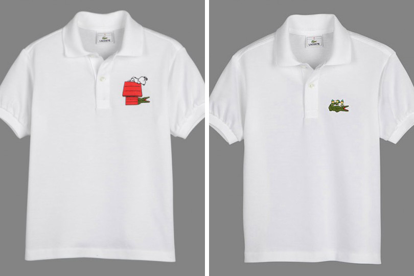 f95f0864a660c Camisa pólo comemorativa Lacoste Peanuts